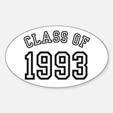 Class of 1993 Oval Bumper Stickers