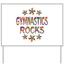 Gymnastics Rocks Yard Sign