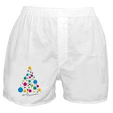 Christmas Glass Ball  Tree Boxer Shorts