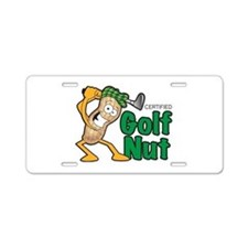 Golf Nut Aluminum License Plate