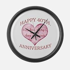 40th. Anniversary Large Wall Clock