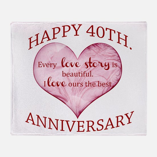 40th. Anniversary Throw Blanket
