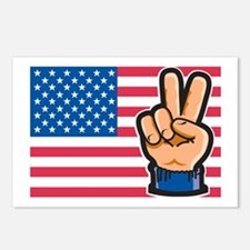 USA Peace Flag Postcards (Package of 8)