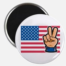 "USA Peace Flag 2.25"" Magnet (10 pack)"