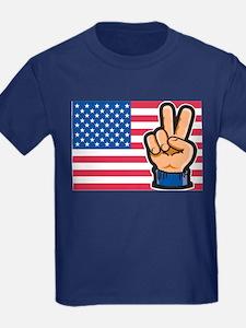 USA Peace Flag T