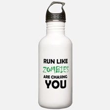 Run Like Zombies are C Water Bottle