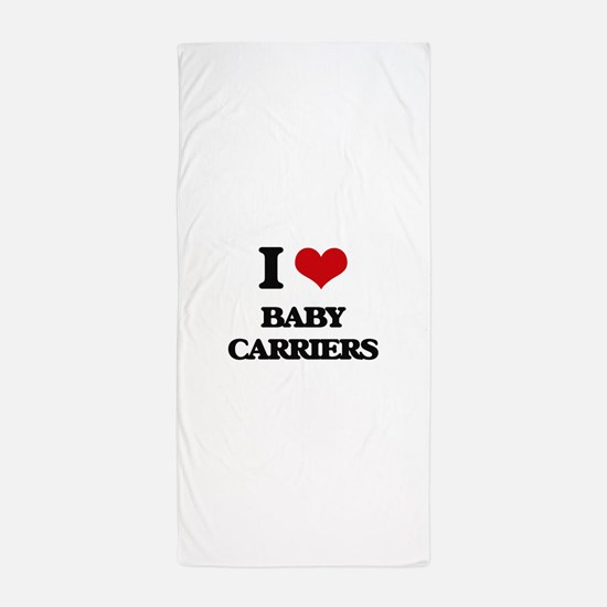 I Love Baby Carriers Beach Towel