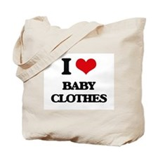 I Love Baby Clothes Tote Bag