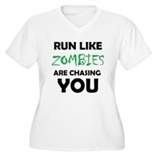 Run Like Zombies are Chasing You Plus Size T-Shirt