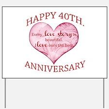 40th. Anniversary Yard Sign