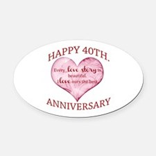 40th. Anniversary Oval Car Magnet