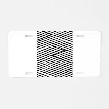 Zig zag Aluminum License Plate