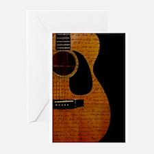 Cute Acoustic guitars Greeting Cards (Pk of 20)