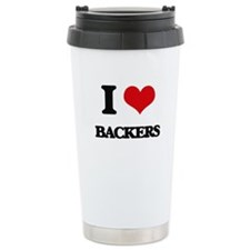 I Love Backers Travel Mug