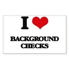 I Love Background Checks Decal