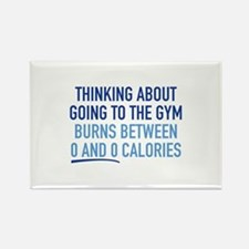 Thinking About Going To The Gym Rectangle Magnet