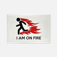 I Am On Fire Rectangle Magnet