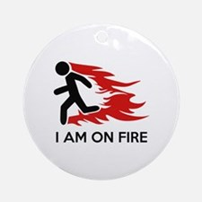 I Am On Fire Ornament (Round)