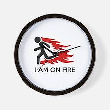I Am On Fire Wall Clock