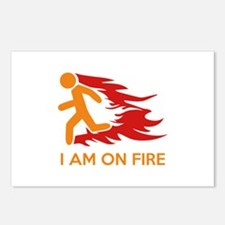 I Am On Fire Postcards (Package of 8)