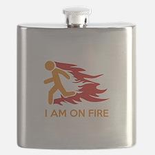 I Am On Fire Flask