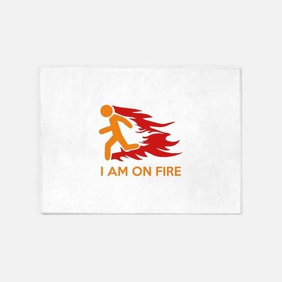 I Am On Fire 5'x7'Area Rug