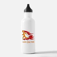 I Am On Fire Water Bottle