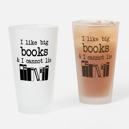 I like Big Books Drinking Glass