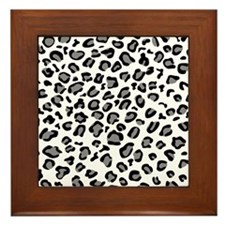 White Cheetah Framed Tile