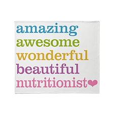 Nutritionist Throw Blanket
