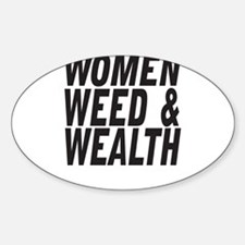 Women Weed & Wealth Decal