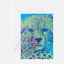 Cheetah Colorful Version Greeting Cards