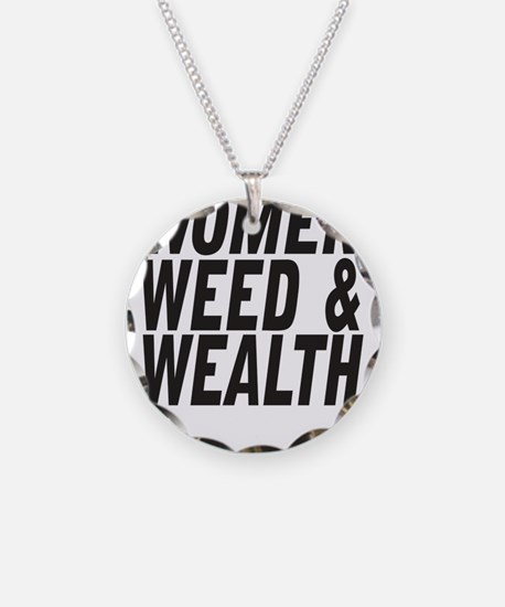 Women Weed & Wealth Necklace