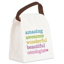 Awesome Oenologist Canvas Lunch Bag