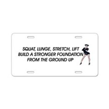 Workout Routine Aluminum License Plate