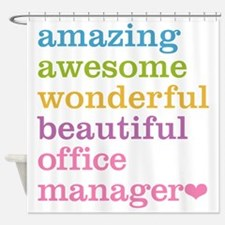 Office Manager Shower Curtain
