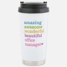 Office Manager Stainless Steel Travel Mug