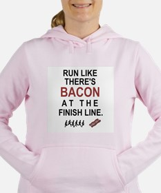 Will Run for Bacon Women's Hooded Sweatshirt