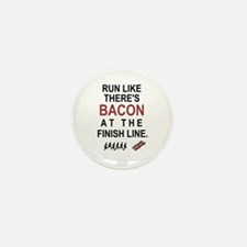 Will Run for Bacon Mini Button (10 pack)
