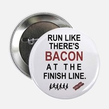 """Will Run for Bacon 2.25"""" Button (100 pack)"""