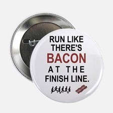 """Will Run for Bacon 2.25"""" Button (10 pack)"""