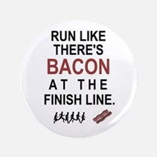 """Will Run for Bacon 3.5"""" Button (100 pack)"""