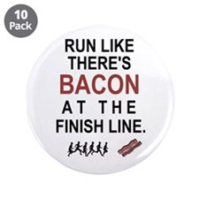 "Will Run for Bacon 3.5"" Button (10 pack)"