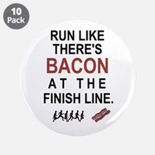 """Will Run for Bacon 3.5"""" Button (10 pack)"""