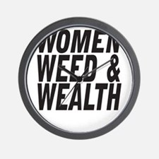 Women Weed & Wealth Wall Clock