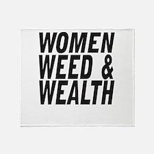 Women Weed & Wealth Throw Blanket