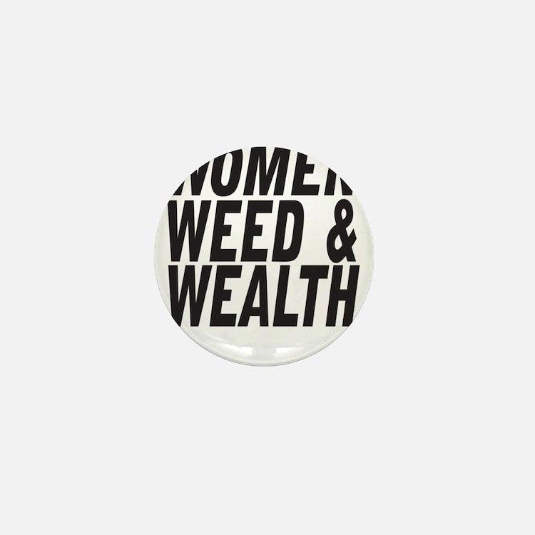 Women Weed & Wealth Mini Button