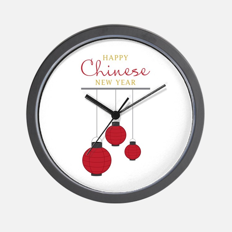 Chinese New Year Wall Clock