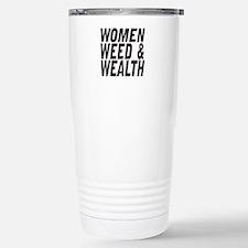 Women Weed & Wealth Stainless Steel Travel Mug