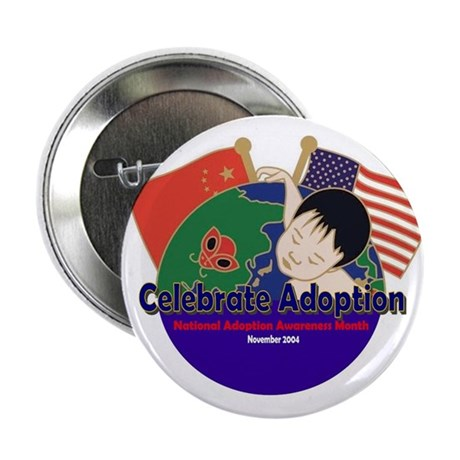 Celebrate Adoption (China/USA) Button